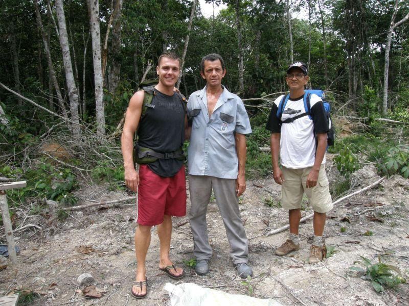 Já, můj průvodce Raimundo a jeho bratr Ronaldo- cesta zpět do civilizace - Brazílie- Amazonie a Manaus