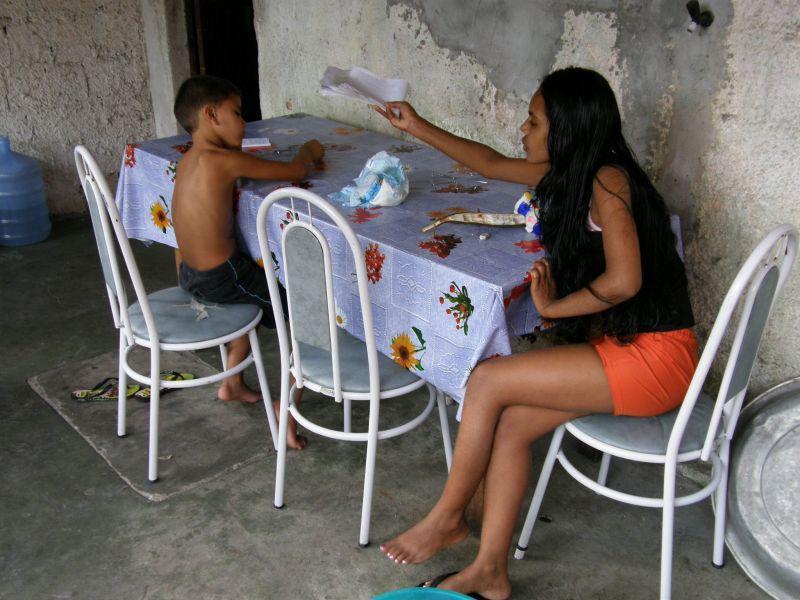 Maria pomáhá s úkoly Netova syna - Brazílie- Amazonie a Manaus