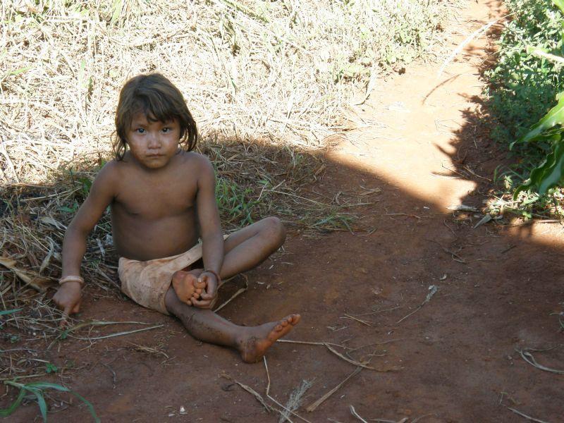 Indiánské děvčátko - Vodopády Iguazu (Argentina)