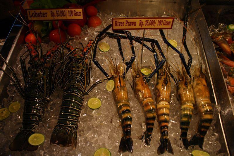 Plody moře - Indonésie- Bali