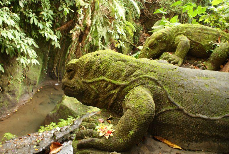 Varani z kamene, jako živí - Indonésie- Bali