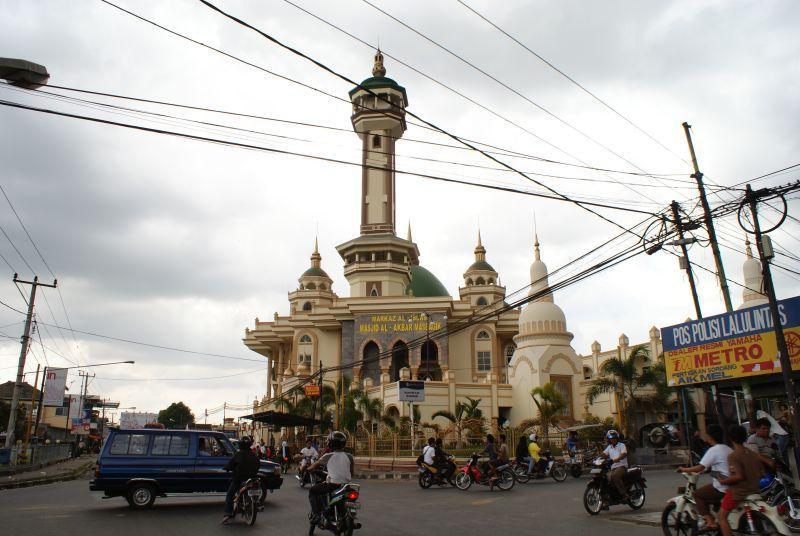 Mešita cestou do Mataram - Indonésie- Lombok