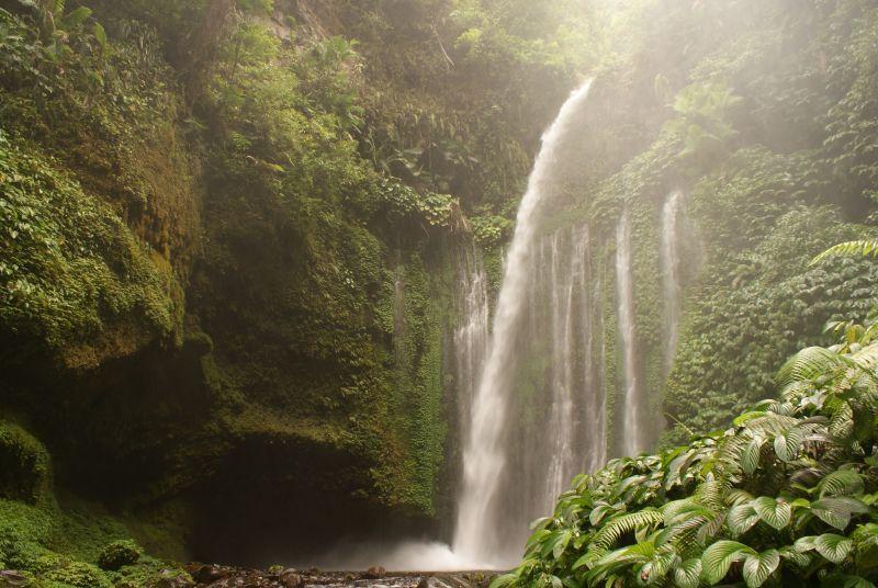 Vodopád poblíž Senaru - Indonésie- Lombok