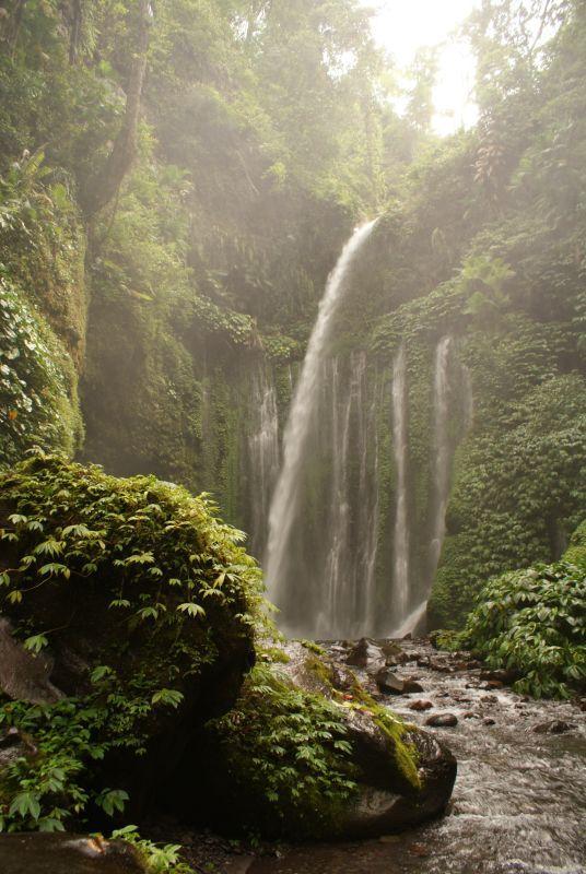 Vodopád poblíž Senaru 8 - Indonésie- Lombok