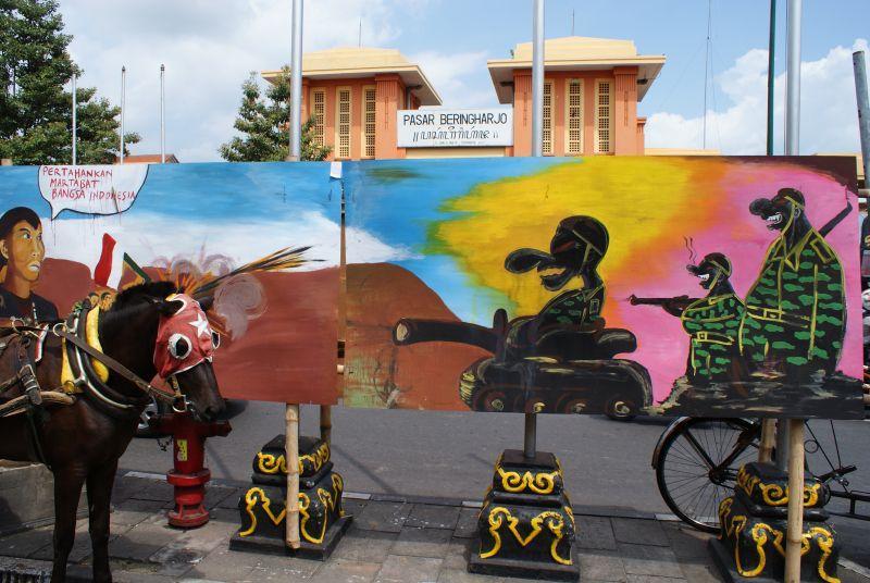 Krásně stvárněná propaganda - Indonésie- Yogyakarta