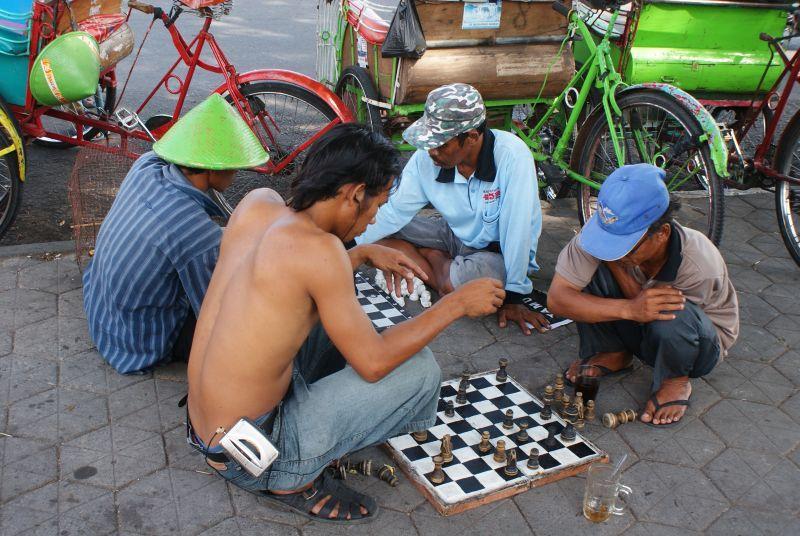 Odpolední partička šachů - Indonésie- Yogyakarta