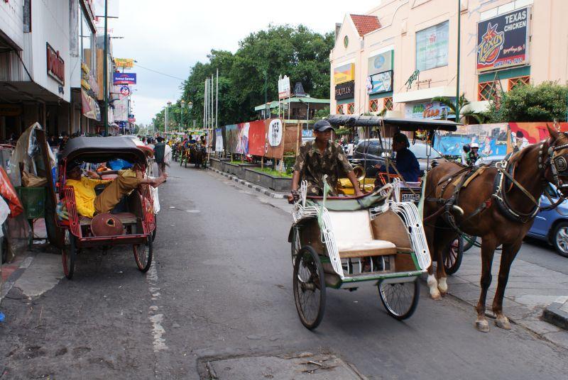 pouliční doprava 2 - Indonésie- Yogyakarta