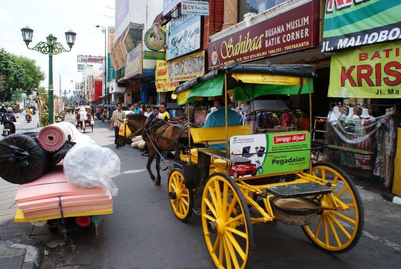 pouliční doprava - Indonésie- Yogyakarta