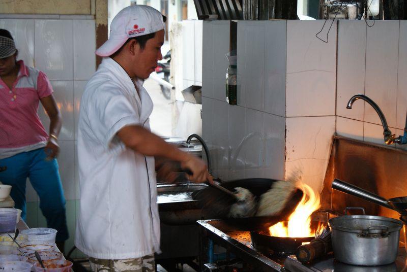 Kuchyně v pohraničí s Vietnamem - Kambodža- Phnompenh a okolí