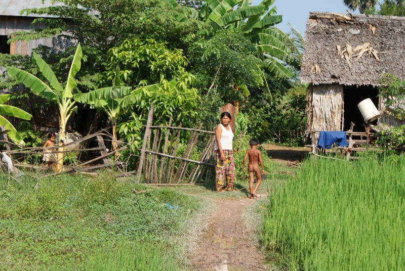 Obyvatelé vesnice - Kambodža- Phnompenh a okolí