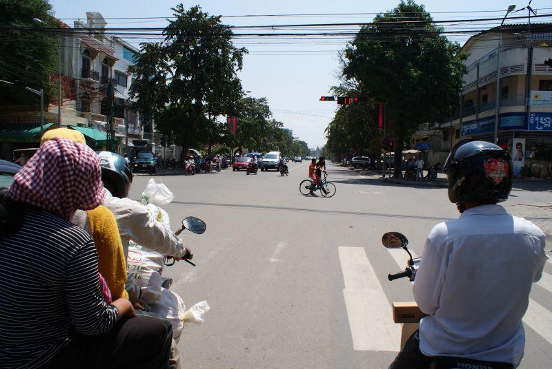 Odpočítavací semafory v Phnompenhu - Kambodža- Phnompenh a okolí