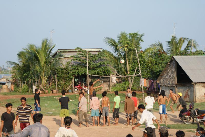 Volejbalový zápas - Kambodža- Phnompenh a okolí