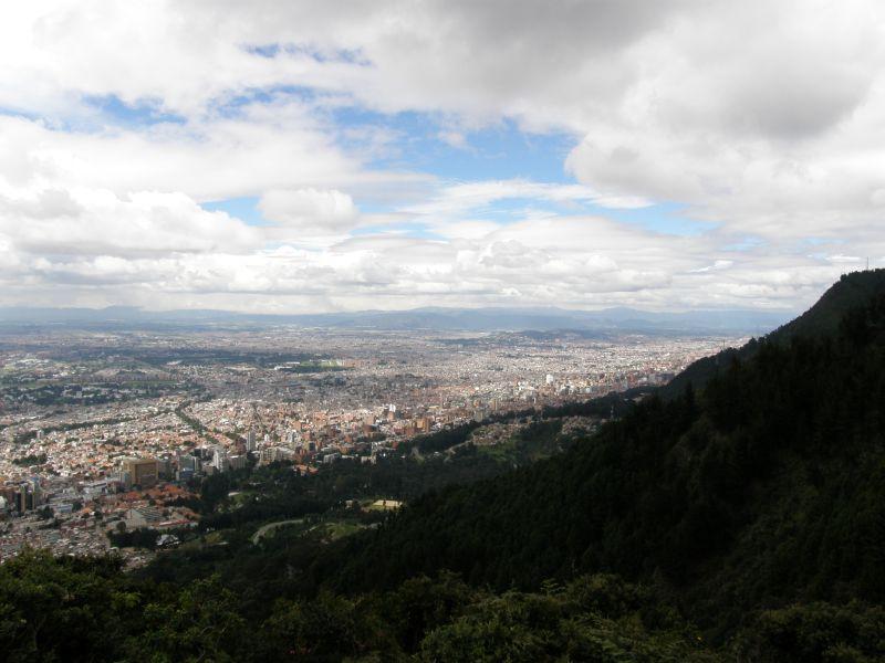 Bogota, pohled ze Cerro de Monserrate 2 - Kolumbie