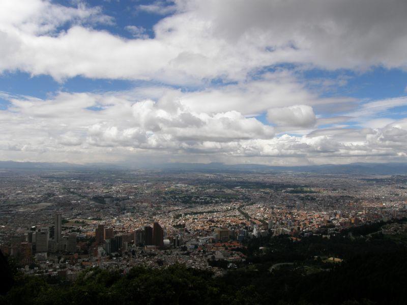 Bogota, pohled ze Cerro de Monserrate 3 - Kolumbie