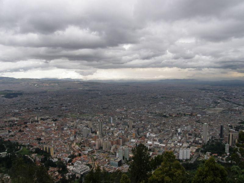 Bogota, pohled ze Cerro de Monserrate - Kolumbie