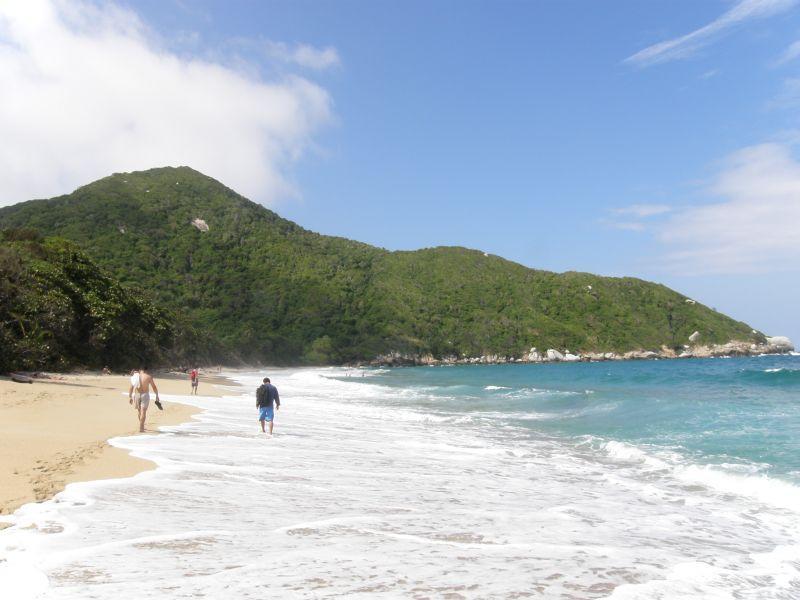 jedna z posledních pláží v parku Tayrona - Kolumbie