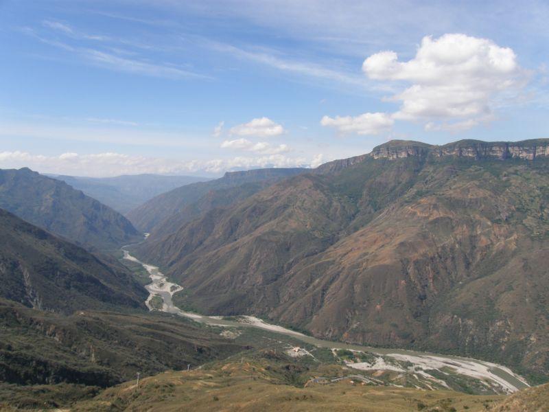 řeka v údolí, Chicamocha II - Kolumbie