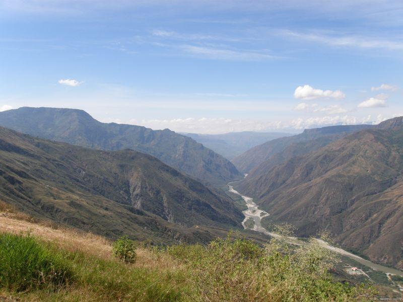 řeka v údolí, Chicamocha III - Kolumbie