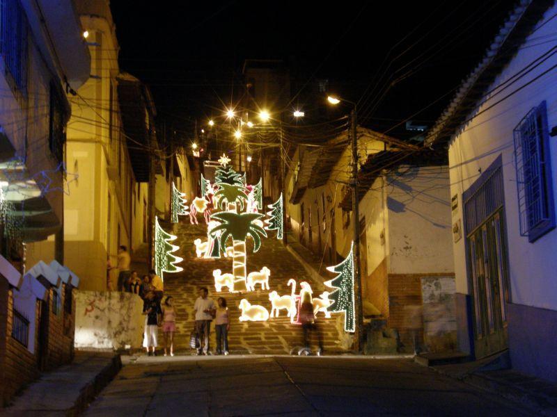 Schody v San Gil - Kolumbie