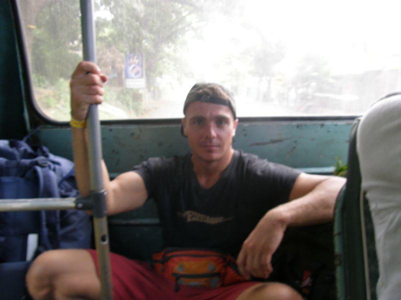 unavený ale šťastný, cestou do Santa Marta - Kolumbie