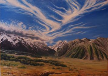 Aoraki - The king of the New Zealand - oil painting