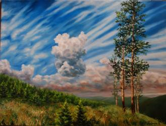 Beskydy mountains - oil painting