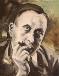 Karel Čapek - oil painting