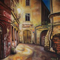 Kamzikova street - oil painting