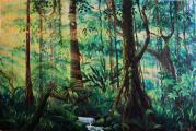 Světlo v džungli 2 - olejomalba, obraz