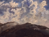 Himalayas- Morning view from Tonglu - oil painting