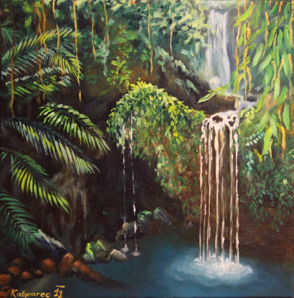 Oil painting - Jungle Peacefullness