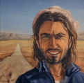 Paul on his way to Tibet - oil painting