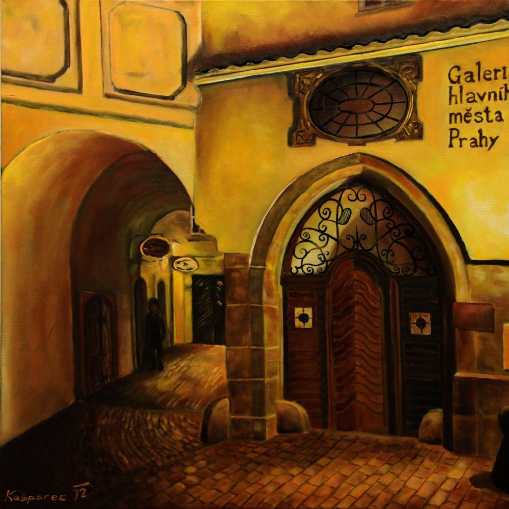 Oil painting - Old Prague