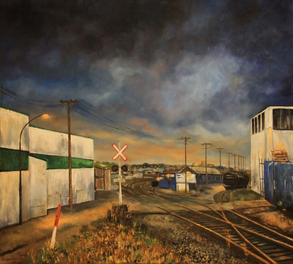 Oil painting - Parker Street warehouses