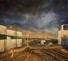 Parker Street warehouses - oil painting