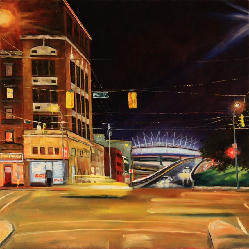 Oil painting - Main and Prior Street, Vancouver BC