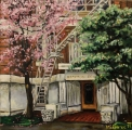 Hampton Court na Thurlow Street, Vancouver - olejomalba, obraz