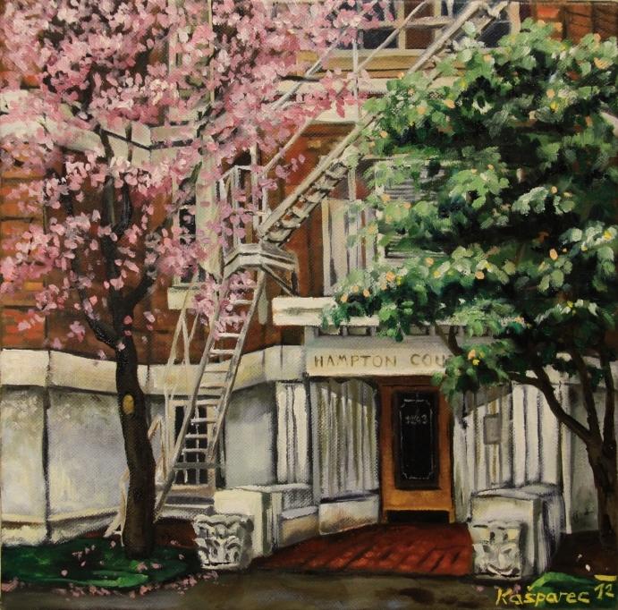 Oil painting - Hampton Court, Vancouver BC