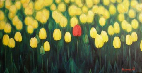 Tulips - oil painting