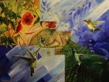 Lesní víla - olejomalba, obraz