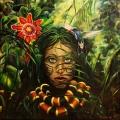 Džungle se dívá II - olejomalba, obraz