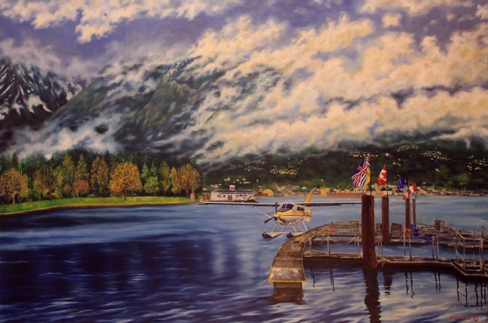 Oil painting - Coal Harbour II