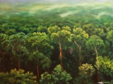 Amazone the source of life - oil painting