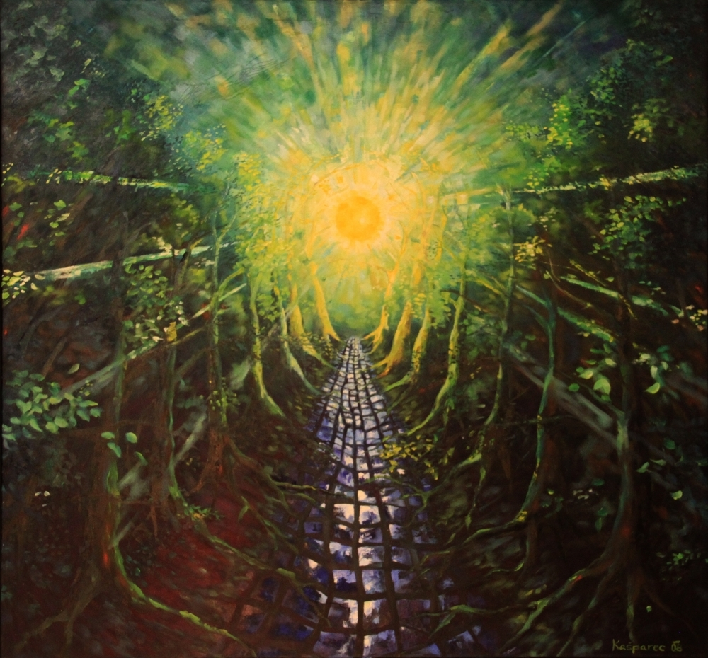 Oil painting - Long way to happiness II