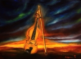 Violin study - paintings