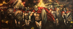 Sparta is charging - paintings