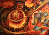 Creation snail - oil painting