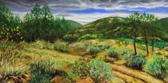Plener Okanagan 1 (Britska Kolumbie) - olejomalba, obraz