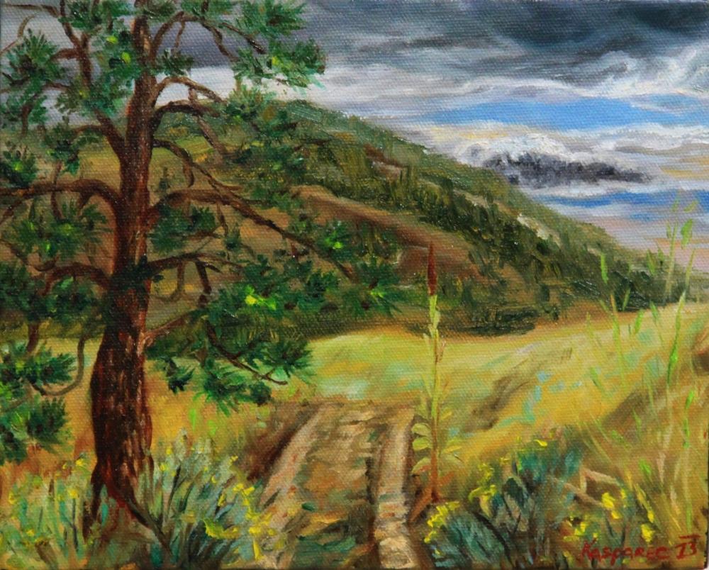 Oil painting - Okanagan plein-air 3