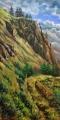 Plener Okanagan 4 (Britska Kolumbie) - olejomalba, obraz